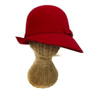 Red Wool Womens Hat